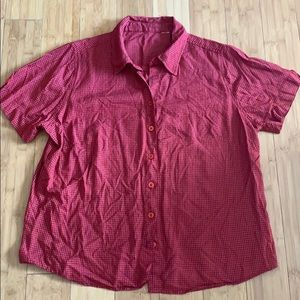 Western red plaid women's button up